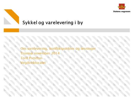 Sykkel og varelevering i by