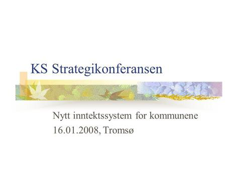 KS Strategikonferansen
