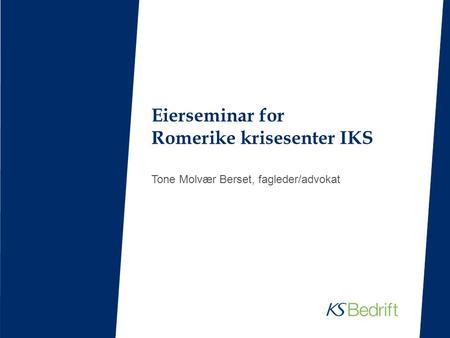 Eierseminar for Romerike krisesenter IKS