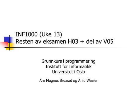 Inf1000 eksamen