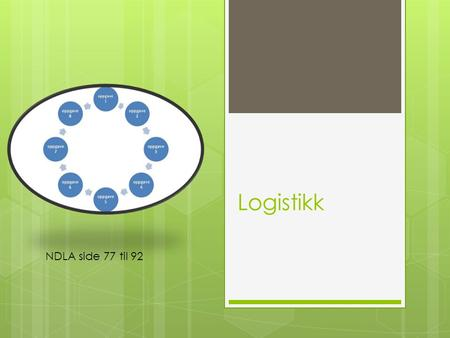 Logistikk NDLA side 77 til 92.