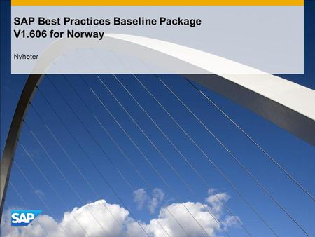 SAP Best Practices Baseline Package V1.606 for Norway Nyheter.