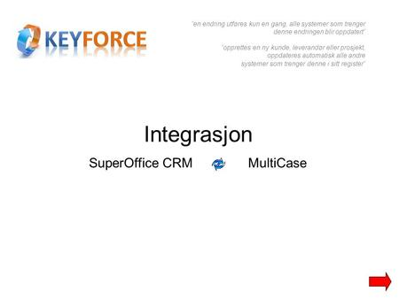 SuperOffice CRM MultiCase