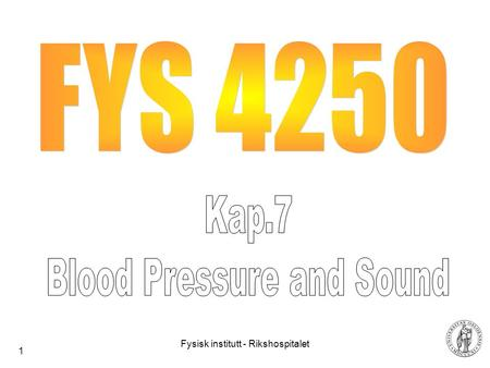 Blood Pressure and Sound