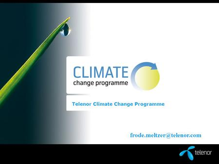 Telenor Climate Change Programme