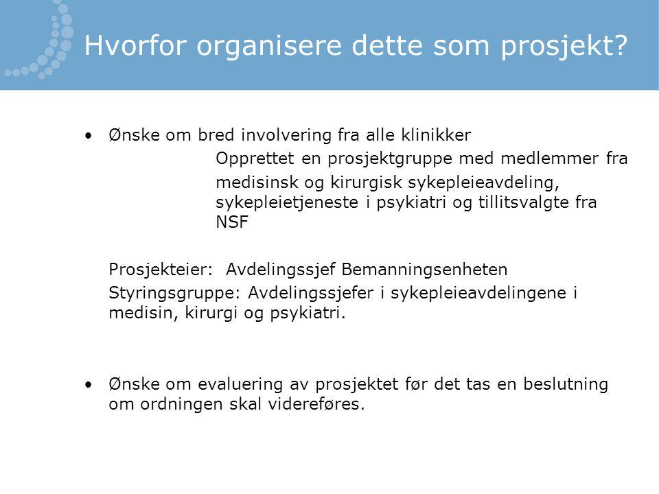Hensikten med prosjektet: -Lette overgangen fra student til sykepleier.
