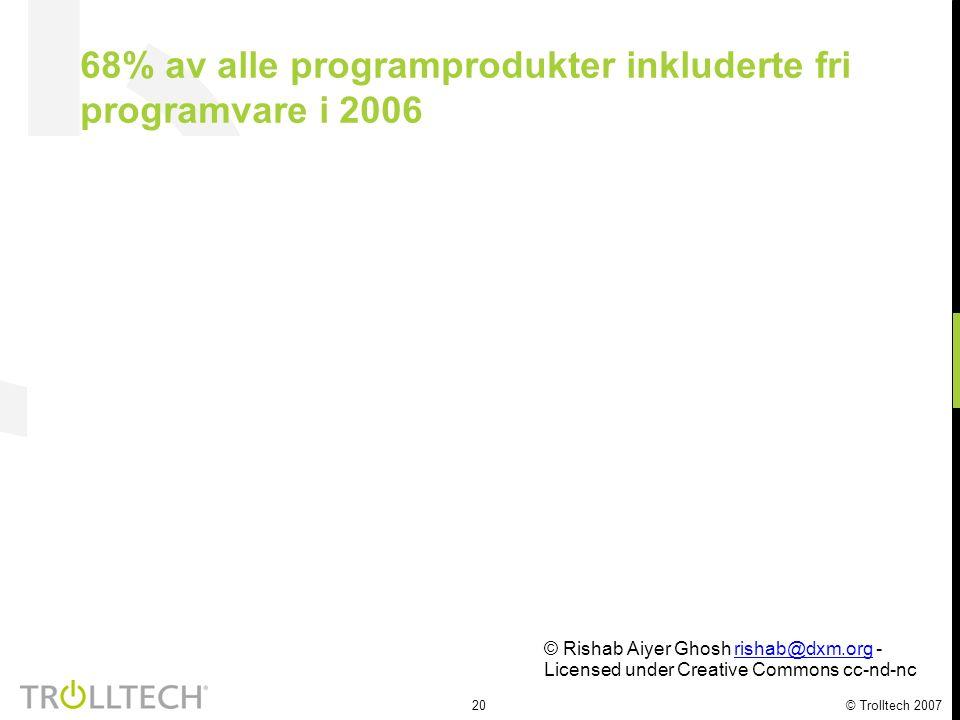 21 © Trolltech 2007 Relasjonen mellom ferdigheter fra utvikling av fri programvare og et profesjonelt yrke Rishab Aiyer Ghosh rishab@dxm.orgrishab@dxm.org International Institute of Infonomics University of Maastricht, The Netherlands