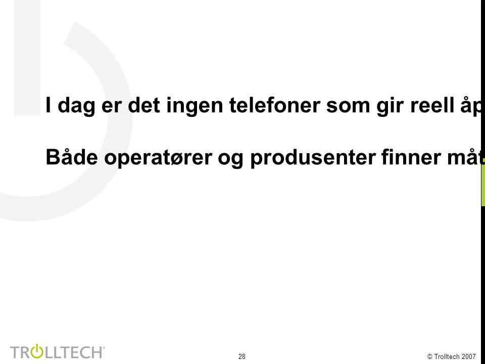 29 © Trolltech 2007 Frigjøre potensialet Hvordan kan vi støtte programmering og installasjon av programvare på mobilen.