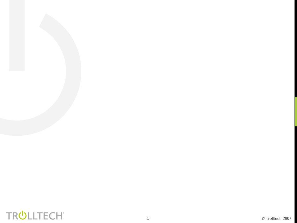 6 Trolltech 13 år med vekst Revenues (NOK million) 43% 41% 42%
