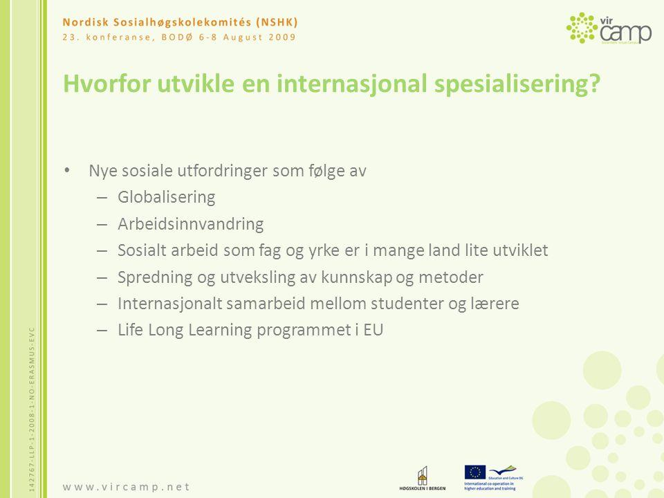 Hvordan utvikle en internasjonal spesialisering.