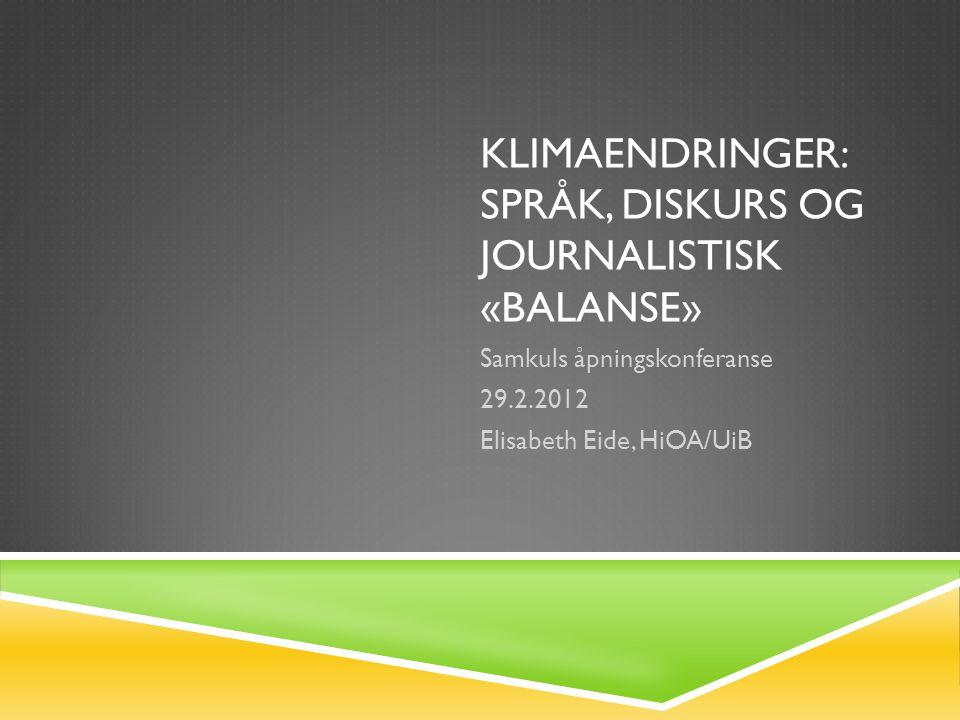 DETTE ER INGEN EN OPPRAMSING …  … men presentasjon av et tverrdisiplinært forskningsprosjekt  med et transnasjonalt komparativt perspektiv,  et humaniora-perspektiv  og medieforskerens, journalistikkforskerens perspektiv