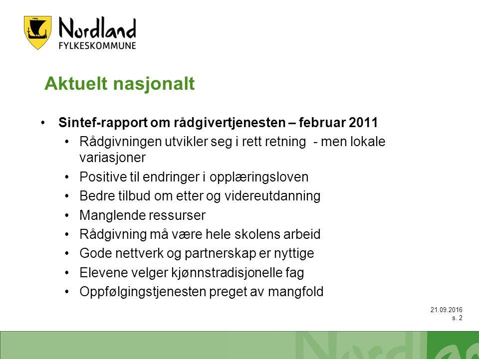 Aktuelt nasjonalt – forts..Min utviklingsplan Fortsatt prøveprosjekt i 2011, 3 fylker.