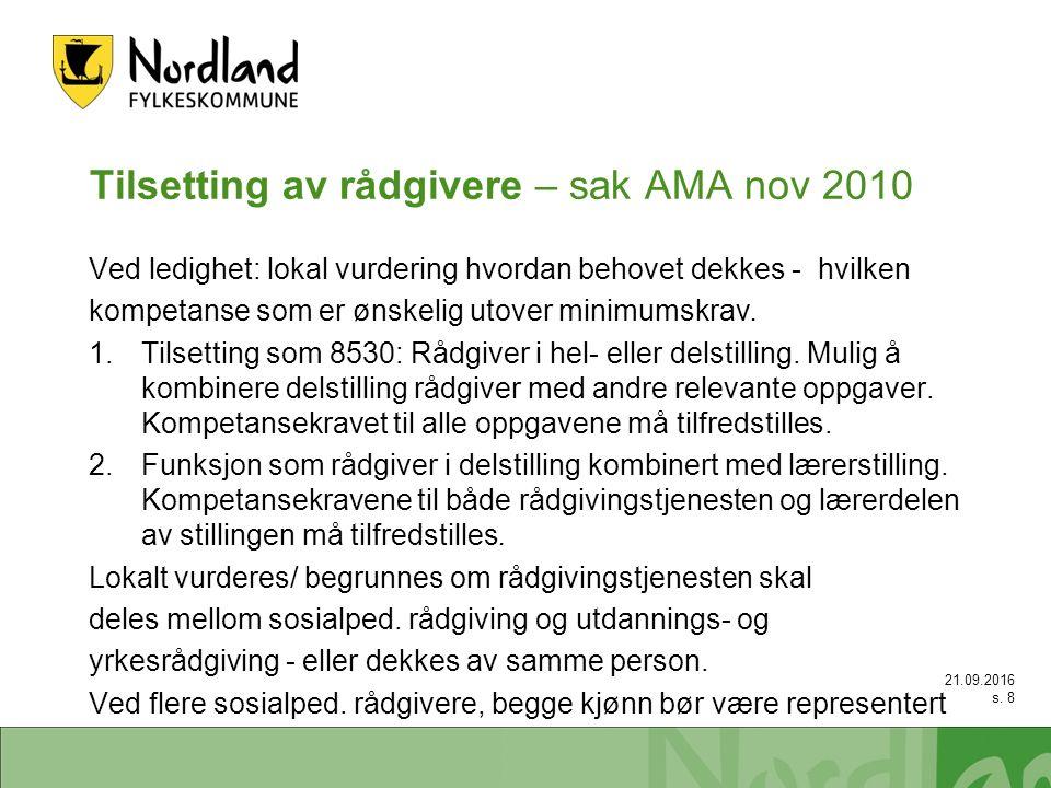 Lofoten Bodø Vesterålen Etablering karrieresenter 2010: Karrieresenter Lofoten (2 – 2,5) Karrieresenter Bodø (3) 2011: Karrieresenter Vesterålen (2 – 2,5) 1.