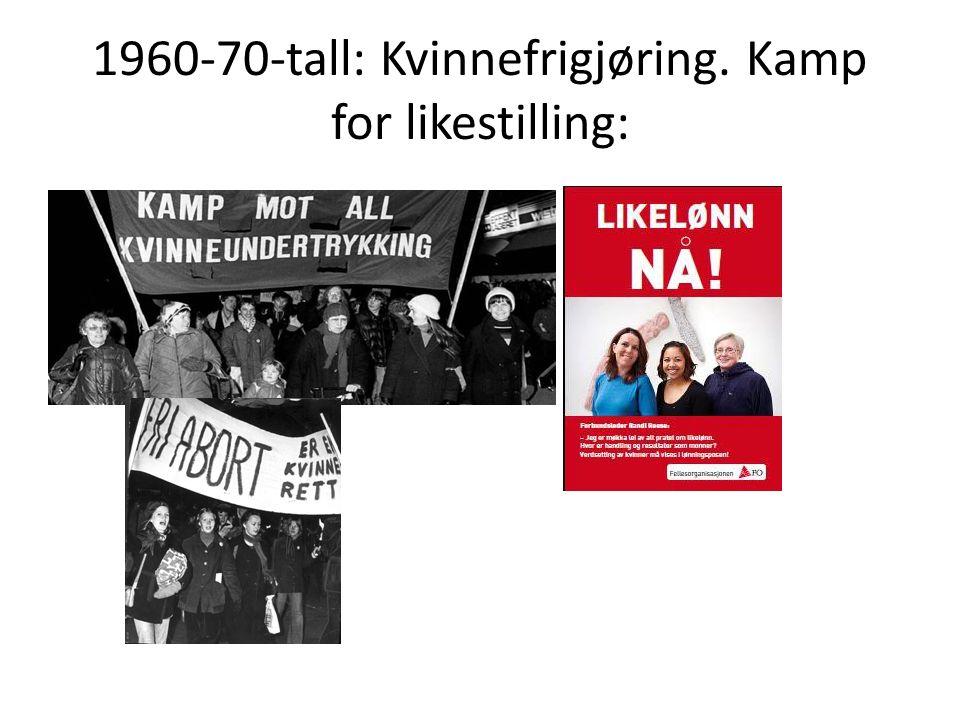 1978 LIKESTILLINGSLOVEN: De to kjønnene skal få like muligheter i samfunnet.