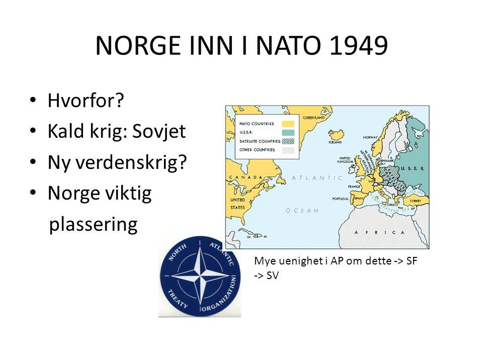 KALD KRIG I NORGE: Norske kommunister er farlige for landet vårt!