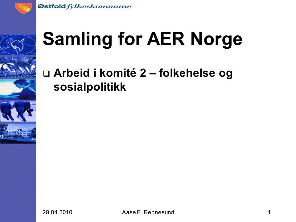 Aktuelle informasjon  Etter forrige møte i AER Norge  Europa tilpasset mennesker med funksjonssvikt  Forebygge rusrelaterte skader  Kultur gir helse  Mulige bidrag fra AER Norge  Komitémøte 12.