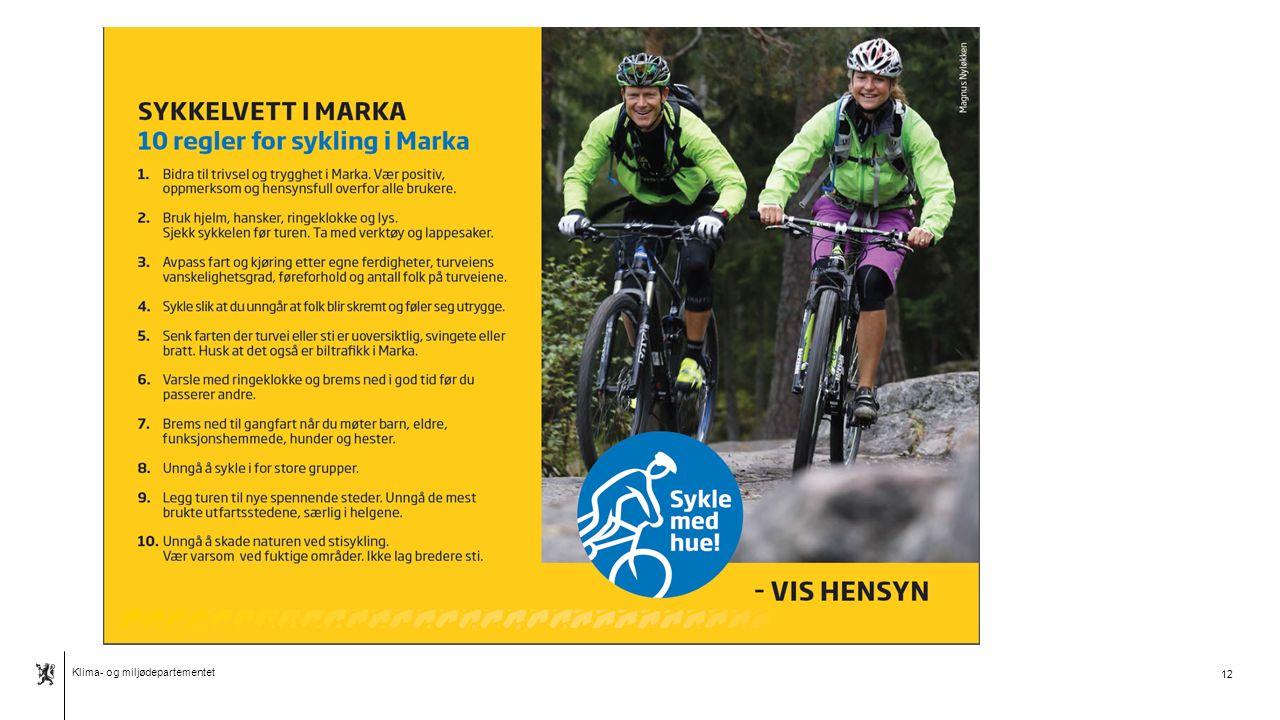 Klima- og miljødepartementet Norsk mal: Tekst med kulepunkter - 2 vertikale bilder 13