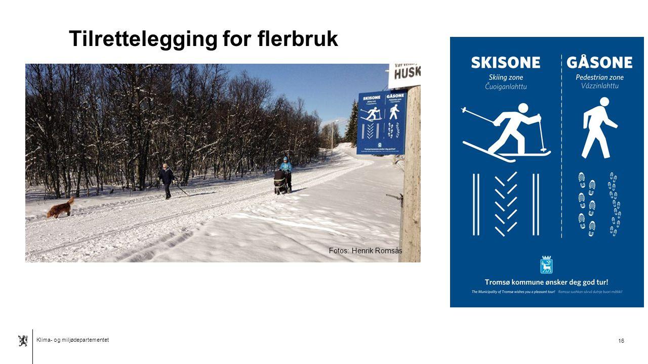 Klima- og miljødepartementet Norsk mal: Tabell Hvor smal bør stien være.
