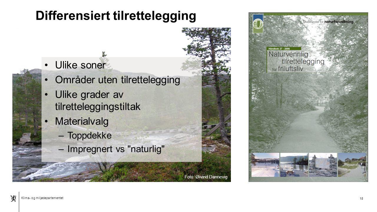Klima- og miljødepartementet Norsk mal: To innholdsdeler - Sammenlikning 19