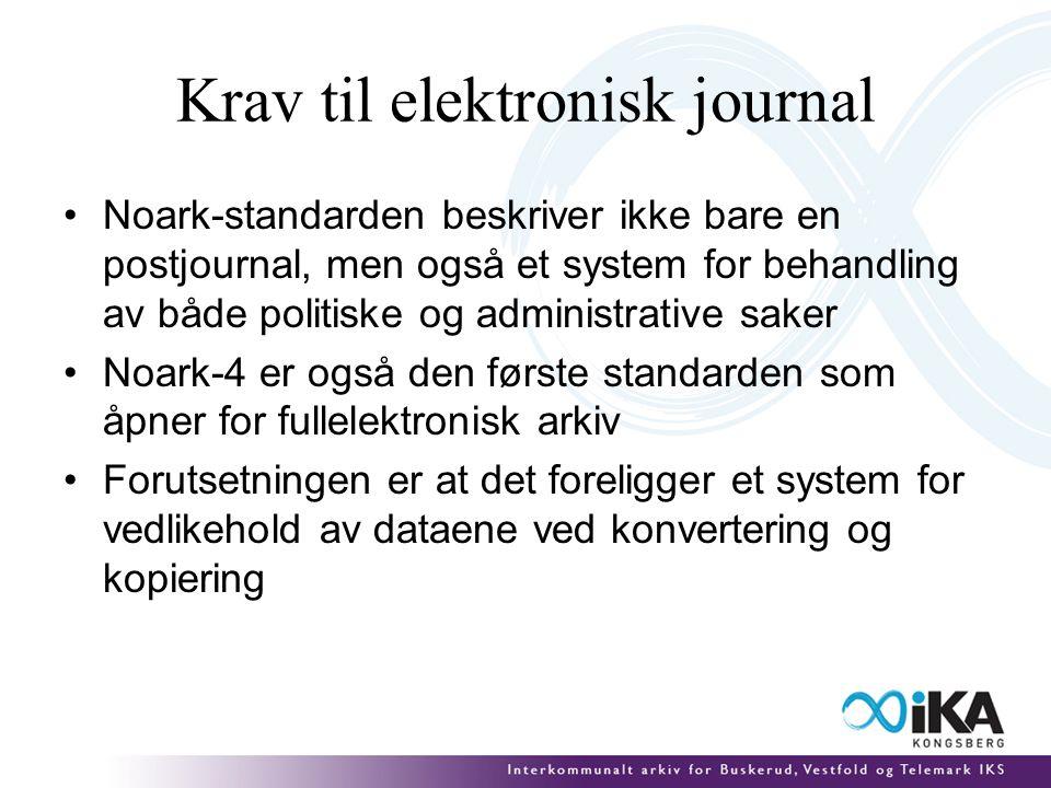 Fagsystemer Det finnes svært få fagsystemer som følger Noark-standarden Arkivfaglig er disse fagsystemene lite tilfredsstillende Dataene kan ikke langtidslagres elektronisk og må derfor skrives ut på papir