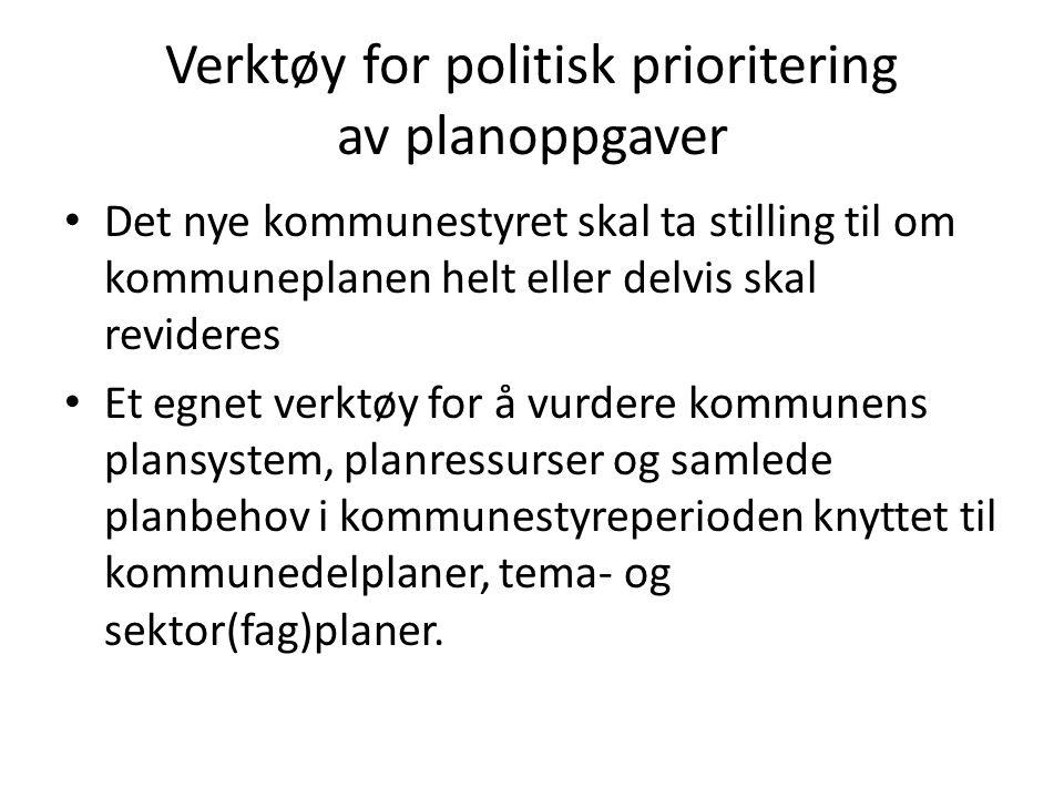 Samarbeid i større geografisk område Kommunal planstrategi skal utarbeides og vedtas senest ett år etter at kommunestyret er konstituert.