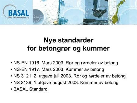 Nye standarder for betongrør og kummer