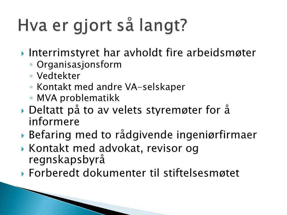  Envinor -> nå Cowi  Lindbæk & Svendsen  Forprosjekt  Utarbeide detaljerte anbudspapirer  Prosjektledelse under utbyggingen  Innhente tilbud på videre drift