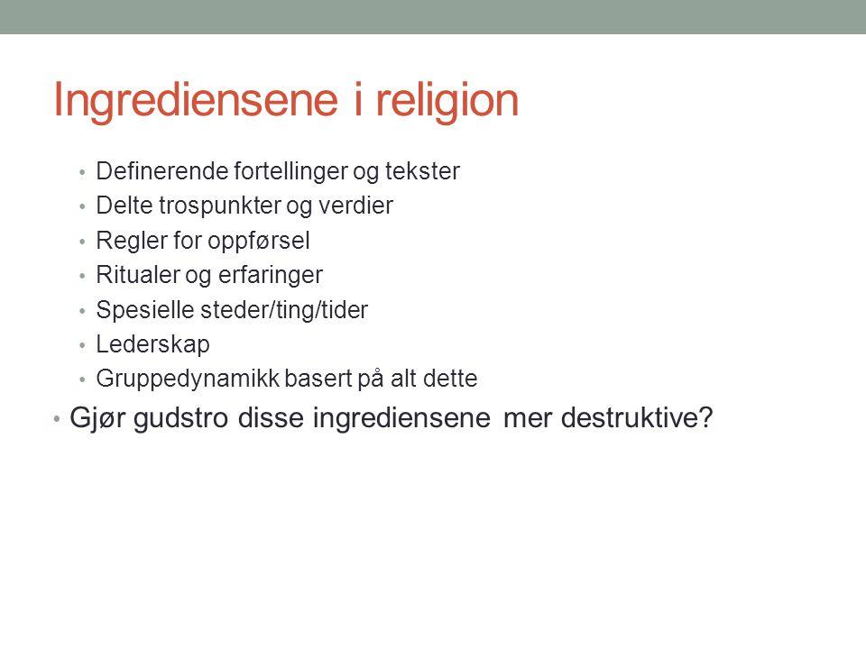 Religion «opphøyer» konflikt til en kamp mellom godt og ondt.