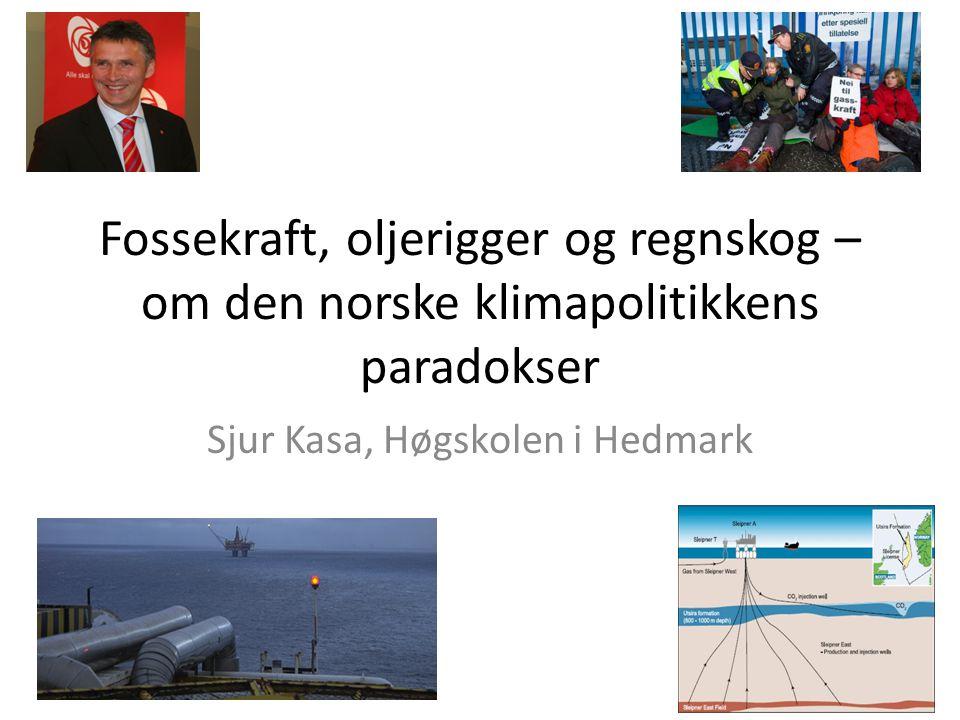 Dette foredraget • En kort oversikt over norsk klimapolitikk -fra tidlig «kuttentusiasme» til «kostnadseffektivitet» og videre til «snever teknologipolitikk» og «kvotekjøp» • Hvorfor har det blitt sånn.