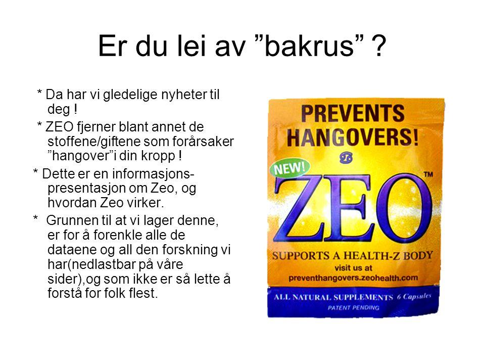 Hvorfor bruke Zeo .