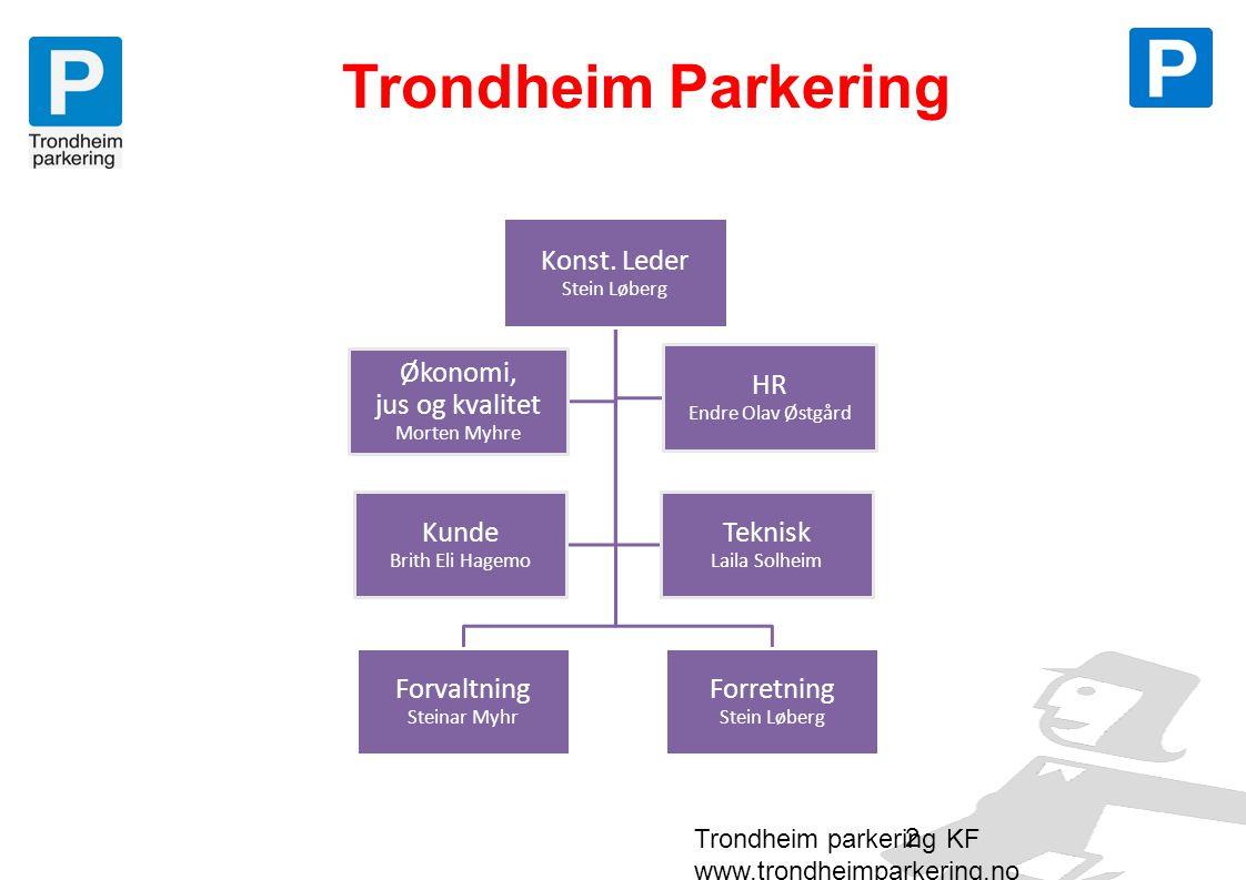 Formålet med Trondheim Parkering • trafikksikkerhet • fremkommelighet • miljø