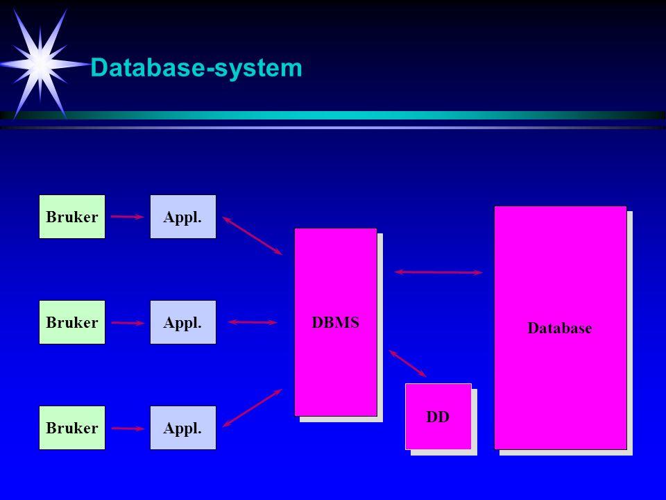 Hva består en database av .
