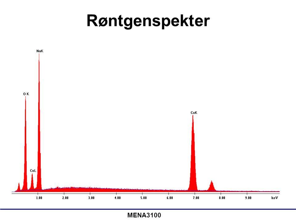 Røntgen •Mest vanlig: EDS (energidispersivt spektrometer) •Med EDS kan overlapp mellom forskjellige grunnstoffer være et problem –WDS (bølgelengdedispersiv spektrometer) har bedre energioppløsning •Vi kan analysere prøven på forskjellige måter: –Punktanalyse –Langs en linje (line scan) – Konsentrasjonskart