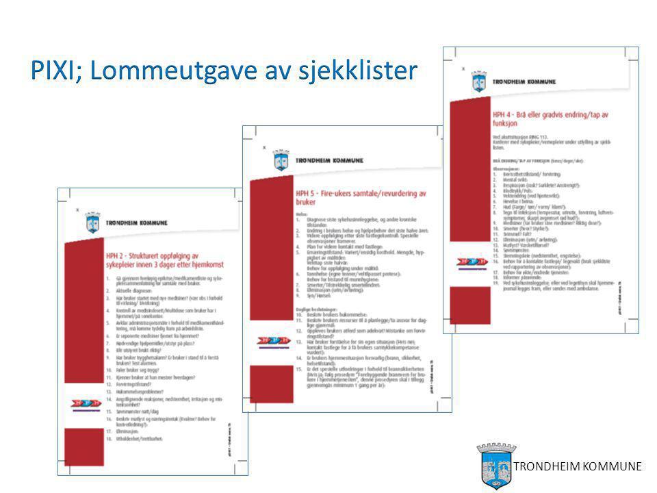 Oppfølgingsplan for pasienten Observasjon Vurdering Tiltak Styrke egenmestring Forebyggende tiltak Kompenserende tiltak (praktisk bistand) Helsetiltak, inkl.