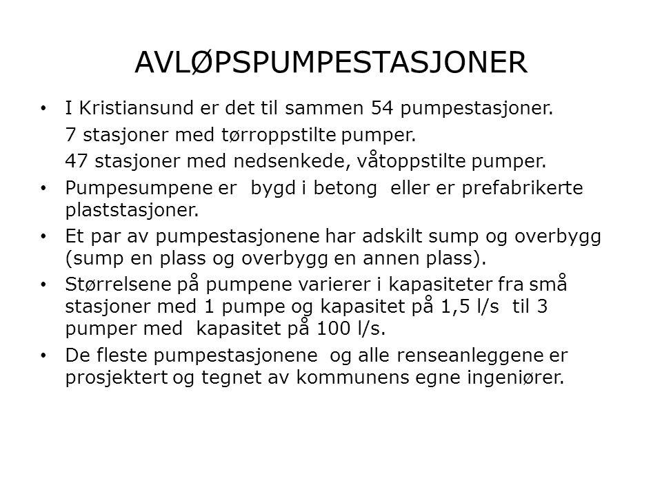 STASJONSTYPER 2 HOVEDTYPER PUMPESTASJONER: • Stasjoner for overføring av avløpsvann fra et område til et annet.