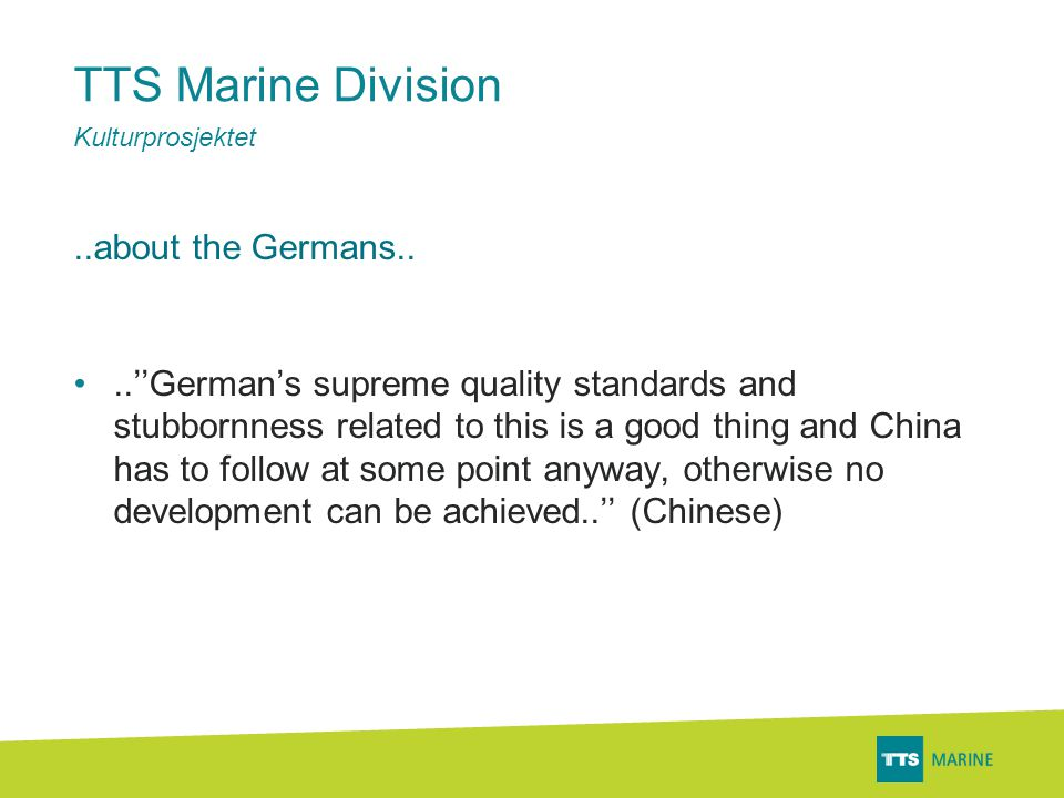 TTS Marine Division..about the Chinese..