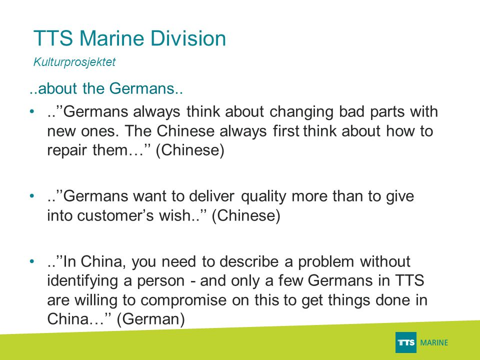 TTS Marine Division..general perspective..