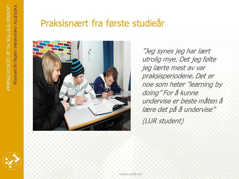 UNIVERSITETET FOR MILJØ- OG BIOVITENSKAP www.umb.no UTDANNINGSTILBUD VED IMT 2010/2011 23 SPØRSMÅL ?
