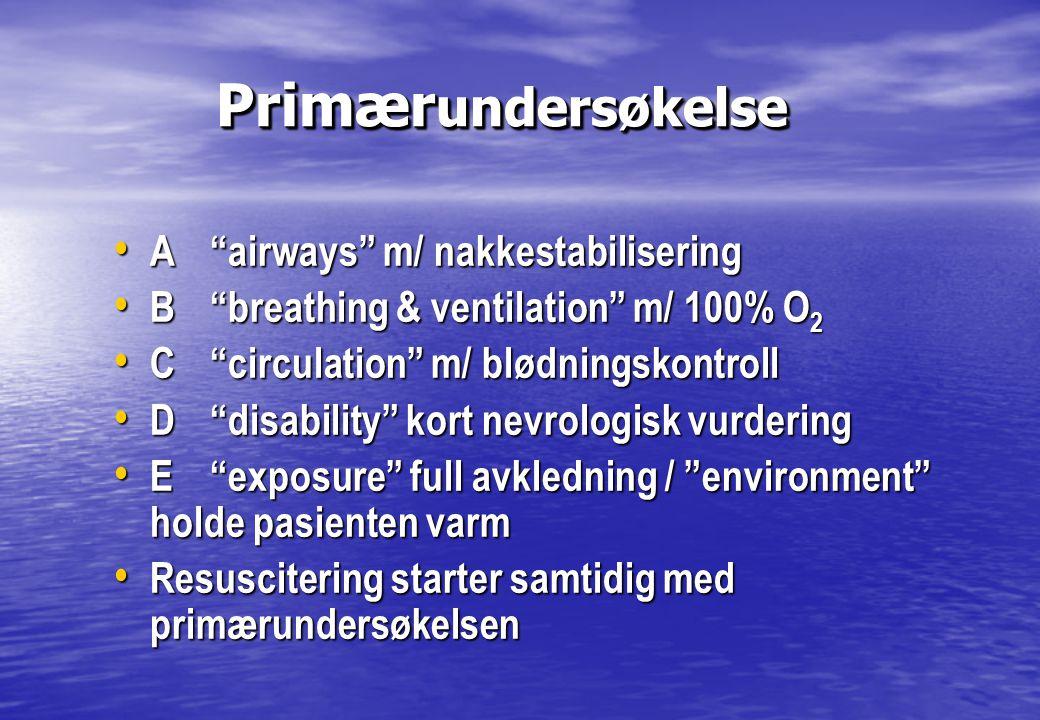 Oksygenbehandling Oksygenbehandling • ALLE skadepasienter skal ha oksygen.