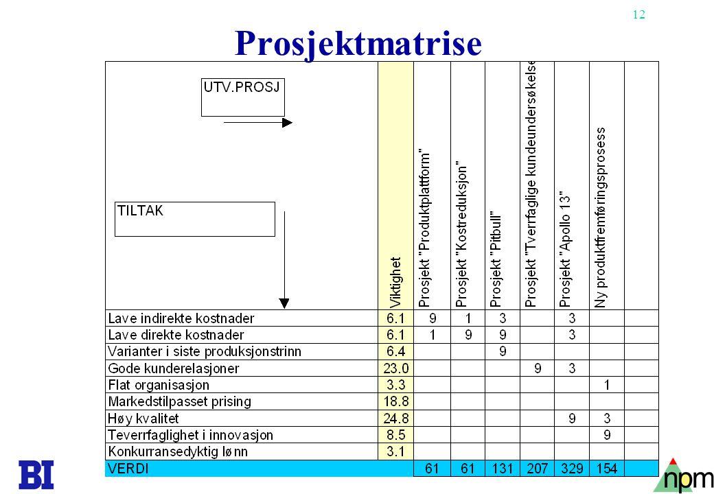 13 Prosjektverdi-modellen