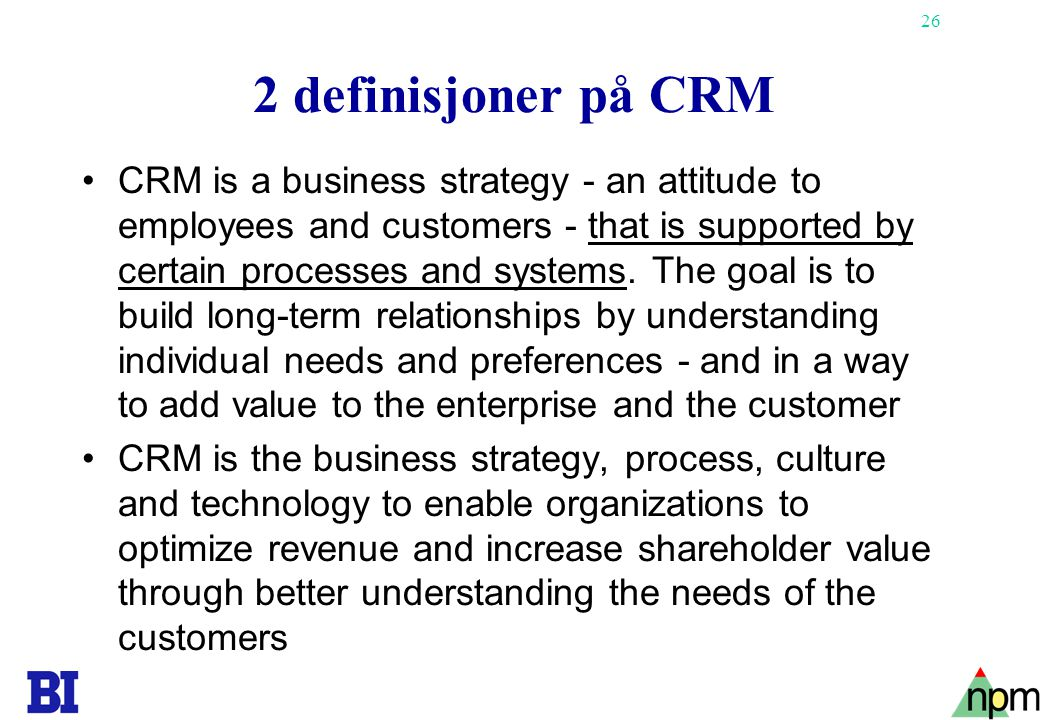 27 CRM-prosjekter 2001 Fra Inside Technology Group Her refereres til IKT-lignende prosjekter