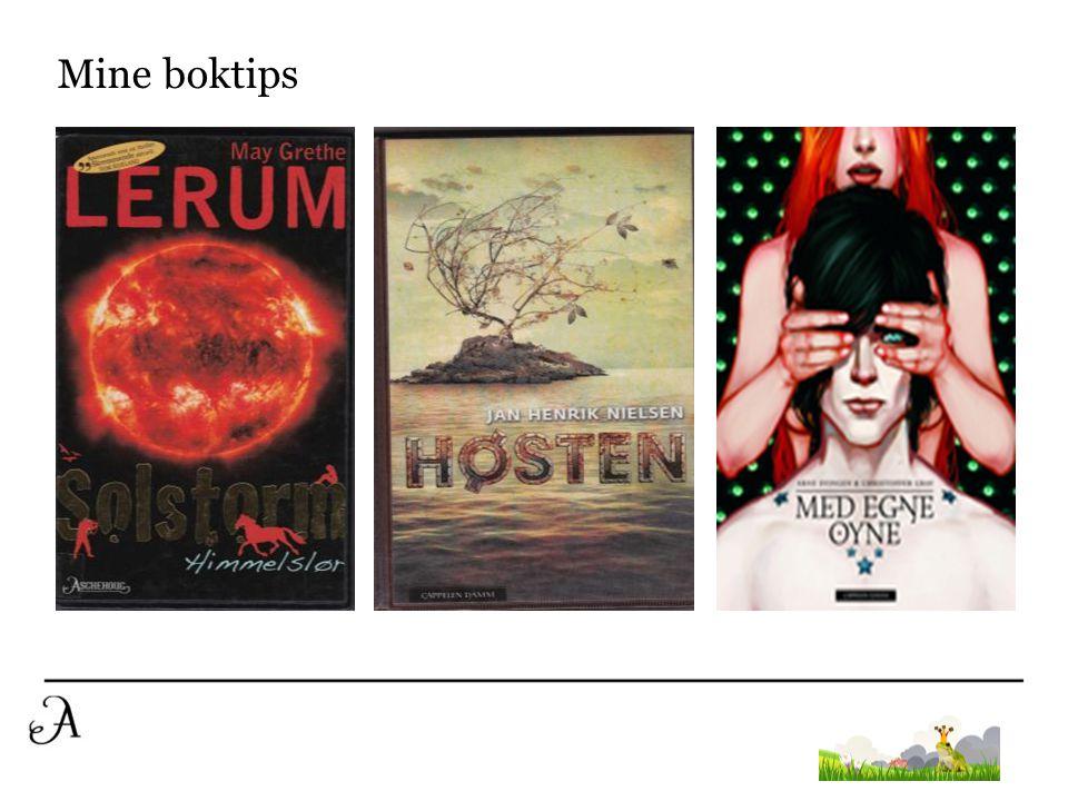 Tips til gode lenker http://www.barnebokkritikk.no/ http://nynorsksenteret.no/ http://lesetipsungdom.blogspot.no/ http://bergenbibliotek.no/barn-og-ungdom/tips- og-nytt/12-16-aar http://www.alesund.folkebibl.no/ http://mrbiblioteket.no/ulstein