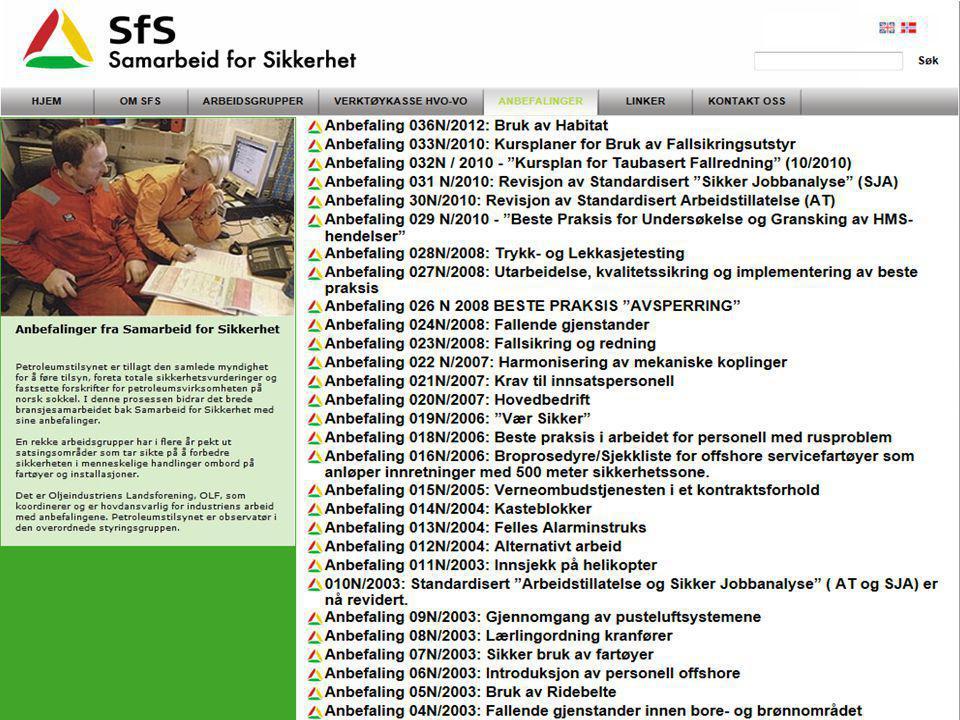 Håndbok Forebygging av FG : Revisjon 3 •Hovedendringer: –Nye og oppdaterte bilder –Ny organisering/innholdsliste –Nye kapitler ( antenner, vindsikring etc) –Sikring av håndholdt verktøy –Referanser og forkortelser i eget avsnitt