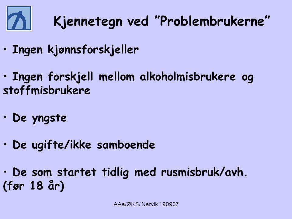 AAa/ØKS/ Narvik 190907 • Hvilken betydning hadde psykiske lidelser for langtidsforløpet av rusmisbruket ?
