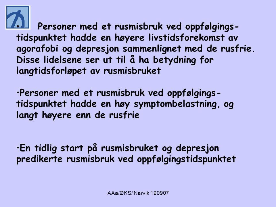AAa/ØKS/ Narvik 190907 SYMPTOMBELASTNING 6 ÅR ETTER