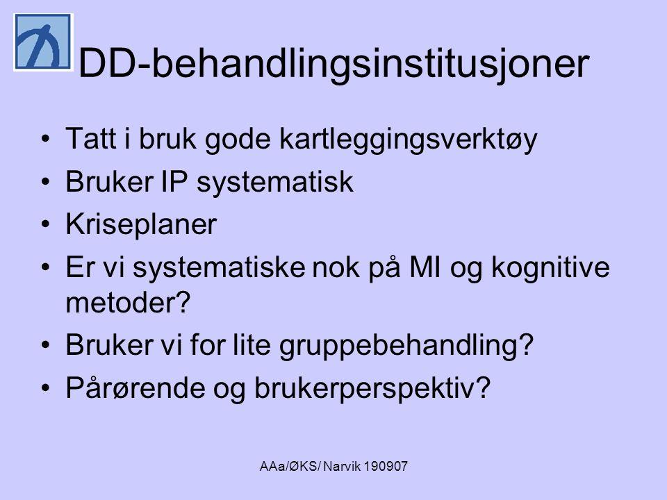AAa/ØKS/ Narvik 190907 Hvor alvorlige psykiske lidelser skal behandles i russektoren.