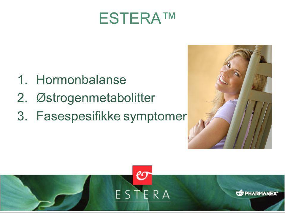 EGEN, PATENTSØKT BLANDING Soyaisoflavoner Granateple Brokkolipulver Linfrølignin Fytoøstrogener fremmer en sunn hormonbalanse Enzymfremmere hjelper kroppen med å styre østrogenmetabolittene