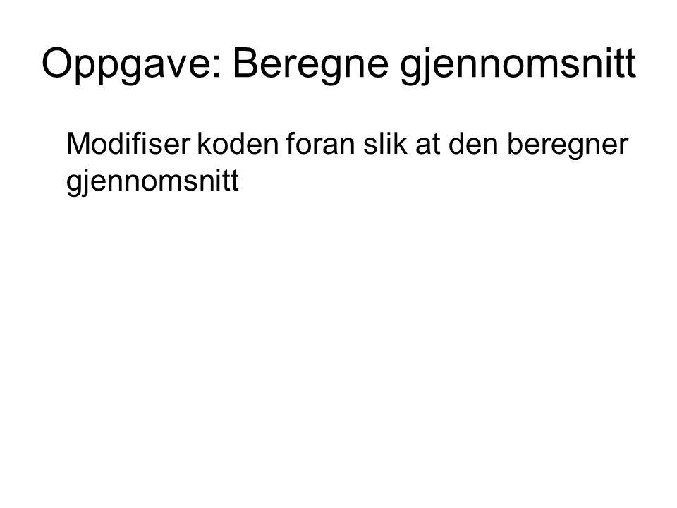 Bokstaver og konvertering (side 315) Gjør om til STORE bokstaver: setning = (TextBox1.Text).ToUpper Til et tall mellom 0 og 25 (uten æ, ø, å): index = Asc(bokstav) – 65 Til en ASCII-verdi: bokstav = Chr(i + 65)