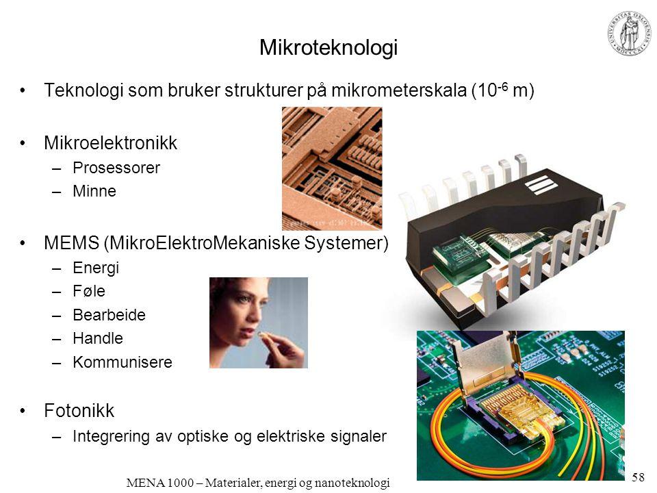 MENA 1000 – Materialer, energi og nanoteknologi Faste ioneledere •Faste ioneledere: Transport av punktdefekter ved selvdiffusjon •Mange faste ioneledere har adsorbert eller absorbert vann eller andre flytende faser.