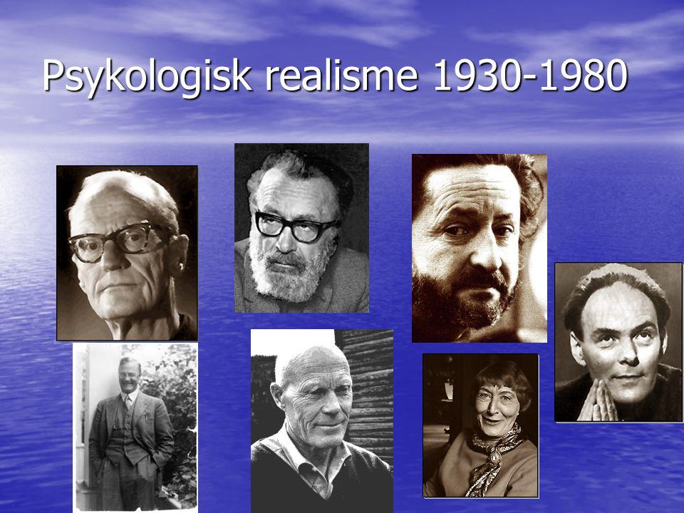 En lang realistisk tradisjon fortsetter • Vekt på psykologi og barndommens betydning (Freud) • Bøkene er også preget av modernisme (oppløst kronologi, på jakt etter identitet og helhet) • Mer dristige seksuelle skildringer • Forfatterne er ofte radikale politisk